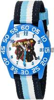 Marvel Boy's 'Civil War' Quartz Plastic and Nylon Automatic Watch, Color:Blue (Model: W003116)