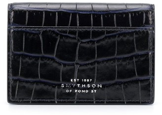 Smythson croc-effect wallet