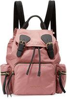 Burberry Medium Rucksack Nylon Backpack, Mauve Pink