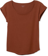 L.L. Bean Signature Cotton/Modal Scoopneck, Short-Sleeve