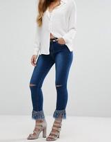Boohoo Ultra Frayed Hem Skinny Jeans