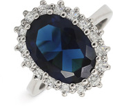 Blue Stone & Cubic Zirconia Oval Ring