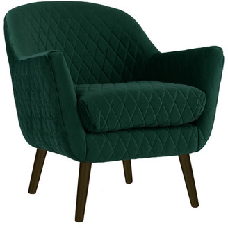 Darcy And Duke Club Chair Ivy Green With Black Legs