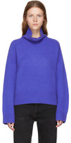 Wendelborn Blue Oversized Cashmere Turtleneck