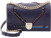Christian Dior Women's Bead Embroidery Leather Shoulder Bag