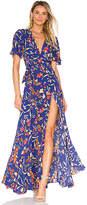 Privacy Please Plaza Kimono Dress in Blue. - size M (also in S,XS)