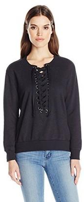 David Lerner Women's Lace Up Sweatshirt