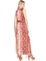 MICHAEL Michael Kors Sleeveless Animal-Print Maxi Dress