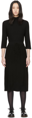 A.P.C. Black Wool Vivianne Dress