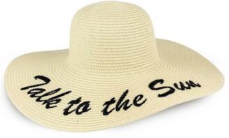 Just Jamie Talk to the Sun Floppy Straw Hat