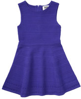 Milly Minis Sleeveless Stretch Jacquard Fit-and-Flare Dress, Size 4-7