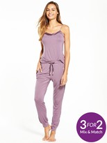 Very Satin Trim Cami Pyjama Set