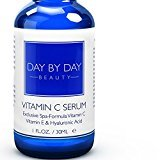 Day by Day Beauty Vitamin C, E, Hyaluronic Acid Anti-Aging Serum, 1 fl. Oz. with E-Book