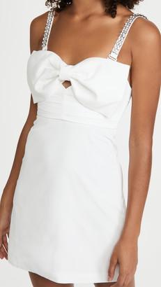 Self-Portrait Taffeta Bow Mini Dress
