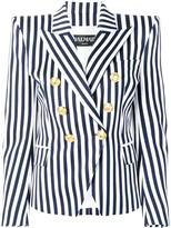 Balmain striped double breasted blazer