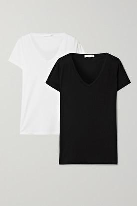 Skin Set Of Two Pima Cotton-jersey T-shirts - Black
