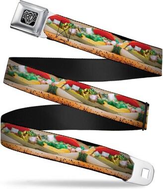 Buckle Down Buckle-Down Unisex-Adults Seatbelt Belt Hot Dogs Regular