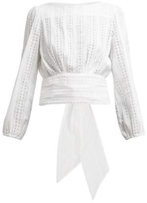 Merlette New York Eyelet Cotton Blouse - Womens - White