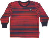Billabong Tots Boys Crush Stripe Ls Tee Red
