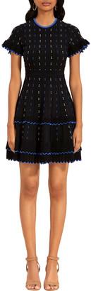 Shoshanna Maria Scallop-Trim Dress