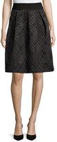 Ted Baker Mansii Bow-Detail Check Skirt, Black