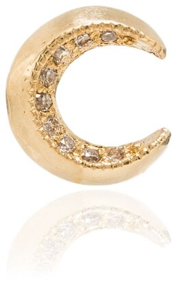 Lizzie Mandler Fine Jewelry 18kt Yellow Gold Crescent Moon Earring