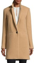 Rag & Bone Emmet Single-Button Wool-Blend Coat, Camel