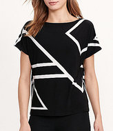 Lauren Ralph Lauren Geometric Print Short Sleeve Jersey Top