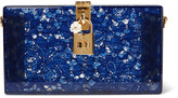 Dolce & Gabbana Lace And Perspex Box Clutch - Blue