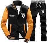 Rocky Sun Mens Slim Fit Jogging Sweat Suits Casual Tracksuits + Pants B/Y l
