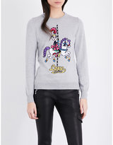 Love Moschino Carousel horse knitted jumper
