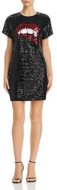 Aidan Mattox Sequined Shift Dress