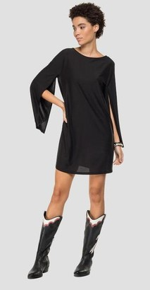 Replay Dress With Drop Shaped Opening With Rhinestones - Small