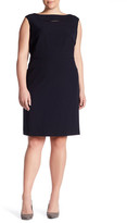 Tahari Cap Sleeve Sheath Dress (Plus Size)