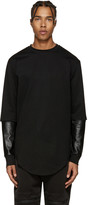 Pyer Moss Black Layered Sleeves Pullover