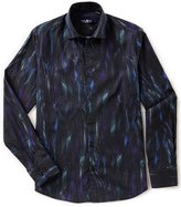 Stone Rose Geo Print Long-Sleeve Woven Shirt