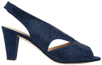Easy Steps Angie Navy Fabric Sandal