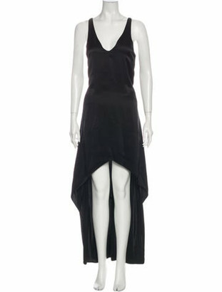 Narciso Rodriguez Silk Long Dress Black
