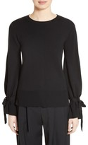 ADAM by Adam Lippes Women's Merino Wool Bell Sleeve Sweater