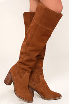 Steve Madden Palisade Chestnut Leather Knee High Boots