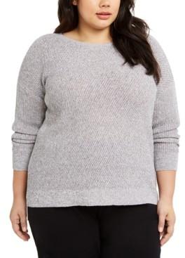 Eileen Fisher Plus Size Ballet-Neck Sweater