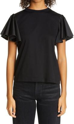ADEAM Ruffle Trim T-Shirt