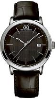 88 Rue du Rhone 87WA130010 Men's Double 8 Origin Leather Strap Watch, Black