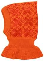 tevirP 100% merino wool BALACLAVA children knit winter hat scarf ski (M, )