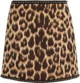 No.21 NO. 21 Leopard-print wool-blend mini skirt