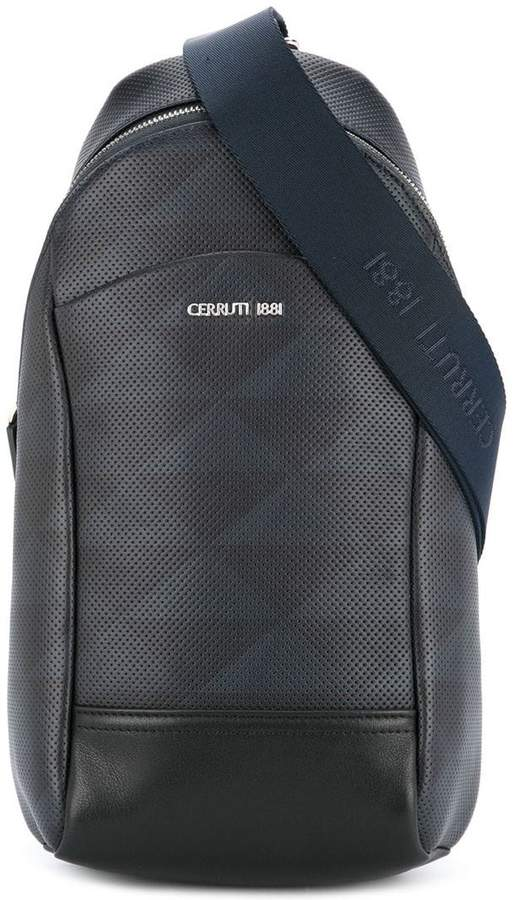 Cerruti perforated single strap backpack