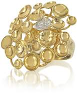 Orlando Orlandini 18K Yellow Gold Large Bouquet Ring w/Diamond