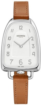 Hermes Galop 26MM Stainless Steel & Leather Strap Watch