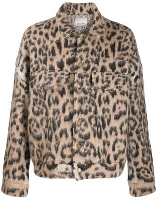 Laneus animal print jacket