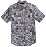 Sean John Men's Short Sleeve Print Linen Shirt, Only at Macy's